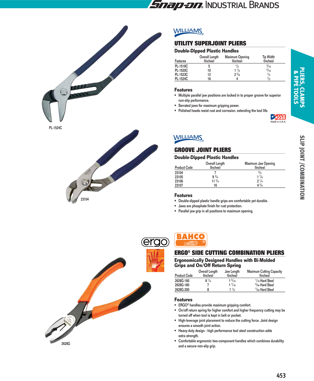 Side Cutting Parallel Pliers With Return Spring