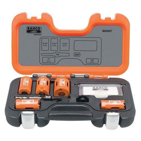 Bahco 862007 |<br>Professional Hole Saw Set 7 Pc