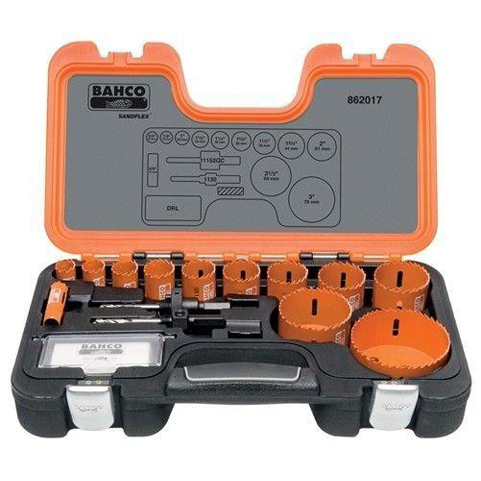 Bahco 862017 |<br>Professional Hole Saw Set 17 Pc