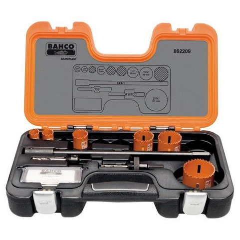 Bahco 862209 |<br>Plumbers Hole Saw Set 9 Pc