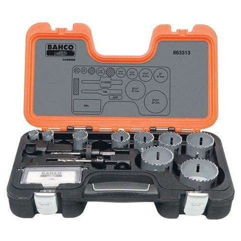 Bahco 863313 |<br>Professional Carbide-Tip Hole Saw Set 13 Pc