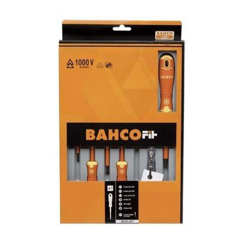 Bahco B220.027 |<br>BahcoFit Assorted Slotted-Phillips Screwdriver Set 7 Pc