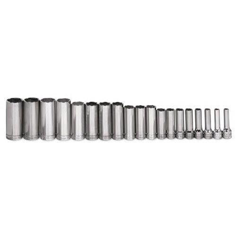 Williams MSBD-19HRC |<br>3/8 Drive Deep Socket Set 6 Pt 19 Pc - 6 - 25mm