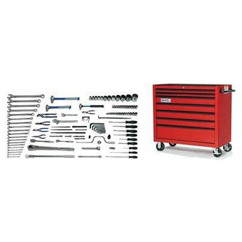Williams MSC-118TB |<br>118 Pc Heavy Equipment Tool Set Metric Tools With Tool Cabinet MSC-118TB