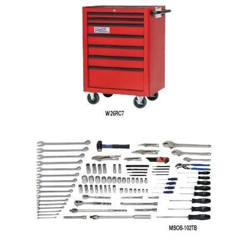 Williams MSOS-102TB |<br>102 Pc Oilfield Service Tool Set SAE With Tool Cabinet MSOS-102TB