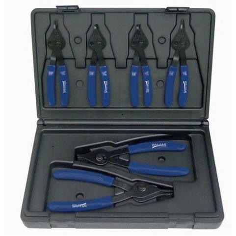 Williams PL-1606 |<br>Combo Internal - External Convertible Snap Ring Pliers Set 6 Pc