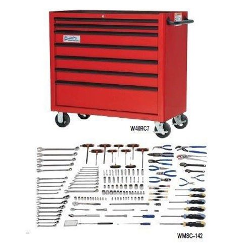 Williams WMSC-142TB |<br>142 Pc Petroleum Oil Field Service Tool Set SAE & Metric Tools With Storage