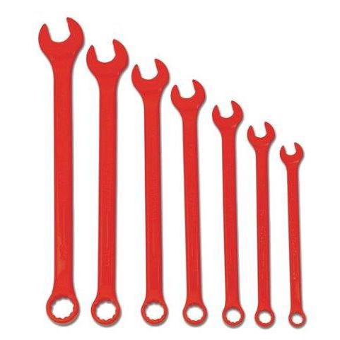 Williams WS-1170RSC |<br>High Visibility Red SUPERCOMBO Combination Wrench 7 Pc - 3/8 - 3/4