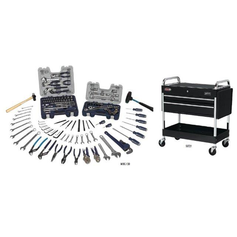 Williams WSC-130TB |<br>130 Pc Maintenance Tool Set SAE Tools With Storage WSC-130TB