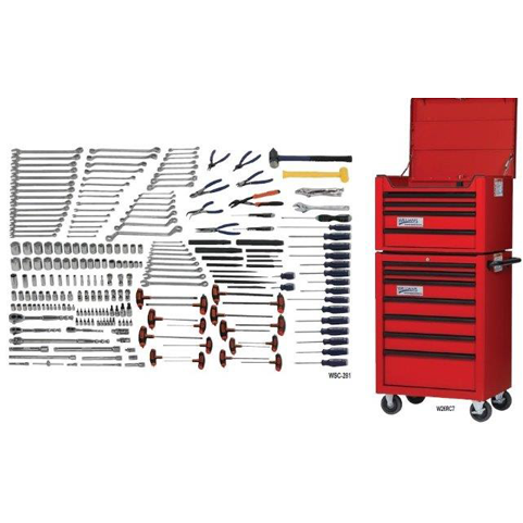 Williams WSC-238TB |<br>238 Pc General Maintenance Tool Set SAE & Metric Tools With Storage