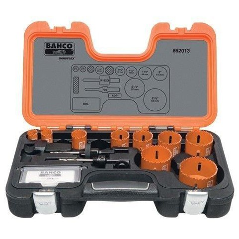 Bahco 862013 |<br>Professional Hole Saw Set 13 Pc
