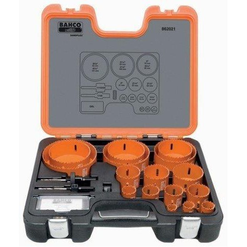 Bahco 862021 |<br>Professional Hole Saw Set 21 Pc